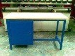 DOSTAWA GRATIS! 77156849 Stół warsztatowy dwustanowiskowy, 1 szafka (wymiary: 2000x750x900 mm)