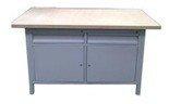 DOSTAWA GRATIS! 77156919 Stół warsztatowy, 2 szuflady, 2 szafki (wymiary: 1500x750x900 mm)