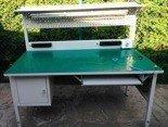 DOSTAWA GRATIS! 77156979 Stół montażowy z nadstawką, 1 szuflada (wymiary: 1600x800x750 mm)