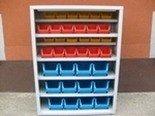 DOSTAWA GRATIS! 77157199 Szafka narzędziowa z pojemnikami plastikowymi, 36 pojemników (wymiary: 1000x750x275 mm)