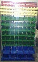 DOSTAWA GRATIS! 77157418 Regał z pojemnikami plastikowymi, 118 pojemników (wymiary: 2000x1200x400 mm)