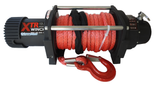 DOSTAWA GRATIS! 81868075 Wyciągarka XTR 13500lbs [6130kg] SPEED z liną syntetyczną czerwoną 24V (średnica liny: 10mm, długość liny: 25m)