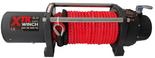DOSTAWA GRATIS! 81874124 Wyciągarka XTR 8000 lbs [3629 kg] z liną syntetyczną w oplocie z dużym hakiem 12V (średnica liny: 10mm, długość liny: 25m)