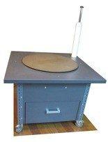 DOSTAWA GRATIS! 91059981 Stół do pakowania paczek na kółkach, 1 szuflada (blat: 100x100 cm, wys: 73 cm)