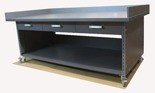DOSTAWA GRATIS! 91073678 Stół roboczy na kółkach z trzema szufladami - nakładka blacha ocynkowana (blat: 150x78 cm, wys: 78 cm)