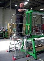 DOSTAWA GRATIS! 99675086 Drabina magazynowa FARAONE 4 stopniowa (wysokość robocza: 2,78m, wymiary platformy: 57x47 cm)