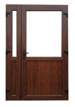 Drzwi zewnętrzne sklepowe (kolor: orzech, strona: lewa, szerokość: 140 cm) 26269179