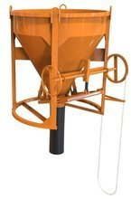 HIST Pojemnik do betonu z wylewem prostym + rekaw 2 metry + obejma (pojemność: 0,50 m3) 25277168