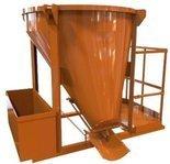 HIST Pojemnik do betonu z wylewem skośnym i z podestem roboczym + rekaw 2 metry + obejma (pojemność: 0,75 m3) 25277205
