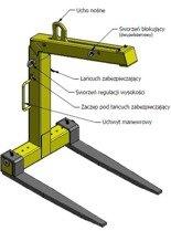 IMPROWEGLE Zawiesie widłowe samopoziomujące (udźwig: 3 T, długość wideł: 800 mm) 33969644