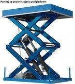 Podnośnik kolumnowy montowany do ściany (udźwig: 200 kg, wymiary platformy: 2000x1500 mm, wysokość w stanie złożonym: 300-480mm, skok 4800 mm, moc: 3 kW) 01878839