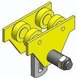 RANG Wózek szynowy jednobelkowy - bez napędu (udźwig: 2 T, zakres toru jezdnego: 76-165 mm) 10278711