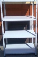 Regał metalowy, 4 półki (wymiary: 2000x1180x800 mm, obciążenie półki: 60 kg) 77170613