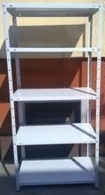 Regał metalowy, 5 półek (wymiary: 2000x1180x700 mm, obciążenie półki: 60 kg) 77170603