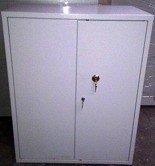 Szafa biurowa wzmocniona, 2 półki regulowane (wymiary: 1250x800x500 mm) 77157091