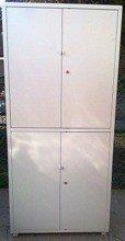 Szafa narzędziowa, 4 drzwi, 6 regulowanych półek (wymiary: 2000x900x450 mm) 77157283