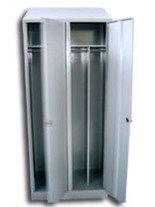 Szafa odzieżowa BHP z przegrodami, 2 drzwi (wymiary: 1800x800x480 mm) 77170682
