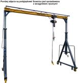 Wciągarka mobilna z wózkiem i wciągnikiem ręcznym (udźwig: 2000 kg, wysokość całkowita: 3800mm, szerokość całkowita: 8000mm, wysokość podnoszenia: 3000mm) 50478483