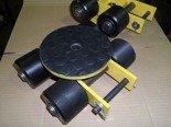 Wózek skrętny z otworem fi 21 w płycie nośnej, 4 rolkowy, rolki: 4x stal (nośność: 4 T) 12267424
