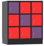 00150448 Szafa dla dzieci, 3 segmenty, 9 drzwi (wymiary: 1053x900x480 mm)