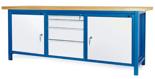 00853666 Stół warsztatowy, 2 drzwi 4 szuflady (wymiary: 2100x900x740 mm)