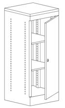 99551912 Szafka biurowa, drzwi, 2 półki (wymiary: 1030x435x440 mm)