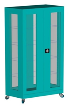 99552557 Szafa lekarska na kółkach, 4 półki, 2 drzwi (wymiary: 1890x800x435 mm)