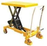 DOSTAWA GRATIS! 00565763 Wózek paletowy stołowy (udźwig: 1000 kg, wymiary platformy: 510 mm, wysokość podnoszenia min/max: 380-990 mm)
