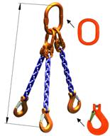 DOSTAWA GRATIS! 33948267 Zawiesie łańcuchowe trzycięgnowe klasy 10 miproSling KHSW 30,0/21,2 (długość łańcucha: 1m, udźwig: 21,2-30 T, średnica łańcucha: 19 mm, wymiary ogniwa: 350x190 mm)