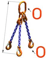 DOSTAWA GRATIS! 33948271 Zawiesie łańcuchowe trzycięgnowe klasy 10 miproSling A8W 30,0/21,2 (długość łańcucha: 1m, udźwig: 21,2-30 T, średnica łańcucha: 19 mm, wymiary ogniwa: 350x190 mm)