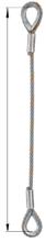 DOSTAWA GRATIS! 33948330 Zawiesie linowe jednocięgnowe zaciskane tulejkami cylindrycznymi miproSling Typu Fk (udźwig: 25 T, wymiary pętli: 760/380 mm, średnica liny: 48 mm, długość liny: 1 m)