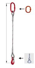 DOSTAWA GRATIS! 33948363 Zawiesie linowe jednocięgnowe miproSling FK 33,50 (długość liny: 1m, udźwig: 33,5 T, średnica liny: 56 mm, wymiary ogniwa: 350x190 mm)