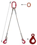 DOSTAWA GRATIS! 33948382 Zawiesie linowe dwucięgnowe miproSling LE 11,8/8,4 (długość liny: 1m, udźwig: 8,4-11,8 T, średnica liny: 28 mm, wymiary ogniwa: 230x130 mm)