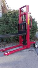 DOSTAWA GRATIS! 62666866 Wózek masztowy ręczny (udźwig: 1000kg, długość wideł: 1150mm, wysokość wideł min/max: 80/2000mm)