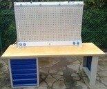 DOSTAWA GRATIS! 77156973 Stół warsztatowy z nadbudową, 6 szuflad (wymiary: 2000x750x900 mm)