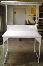 DOSTAWA GRATIS! 77156988 Stół montażowy + tablica z listwą zasilającą i oświetleniem (wymiary: 1200x700x960/2000 mm)