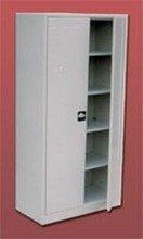 DOSTAWA GRATIS! 77157077 Szafa biurowa ekonomiczna, 2 drzwi, 4 półki regulowane (wymiary: 2000x1200x440 mm)