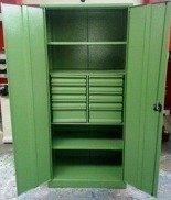 DOSTAWA GRATIS! 77157224 Szafa narzędziowa, 10 szuflad, 2 półki (wymiary: 2000x900x500 mm)