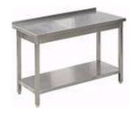 DOSTAWA GRATIS! 77157531 Stół nierdzewny z półką, gastronomiczny (wymiary: 1000x600x850 mm)