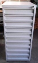 DOSTAWA GRATIS! 77170816 Szafa narzędziowa, 10 szuflad (wymiary: 1200x600x600 mm)