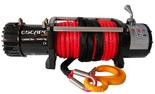 DOSTAWA GRATIS! 81874373 Wyciągarka Escape 12000 lbs 12,0 X [5443kg] z liną syntetyczną w oplocie z dużym hakiem 12V (średnica liny: 10mm, długość liny: 28m)