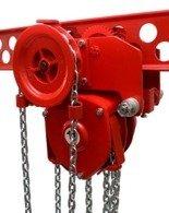 DOSTAWA GRATIS! 9588160 Wciągnik łańcuchowy przejezdny - z atestem ATEX (udźwig: 5,0 T, wysokość podnoszenia: 3m, zakres toru jeznego: 106-170 mm)