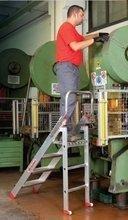DOSTAWA GRATIS! 99675080 Drabina magazynowa FARAONE 2 stopniowa (wysokość robocza: 2,25m)