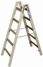DOSTAWA GRATIS! 99675177 Drabina drewniana dwustronna KRAUSE ze szczeblami 2x5 (wysokość robocza: 2,75m)