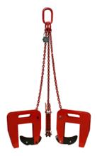 IMPROWEGLE Zawiesie łańcuchowe 3-cięgnowe zakończone uchwytami do podnoszenia kręgów betonowych GDA 1,5 (udźwig: 1,5 T, zakres chwytania: 40-120 mm) 3398554