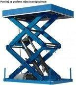 Podnośnik, podest nożycowy (udźwig: 900 kg, wymiary platformy: 2050x1200mm, wysokość podnoszenia min/max: 400-3100 mm, moc: 2,3kW) 01876701