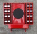 Stalmechon Wózek skrętny do transportu maszyn, urządzeń i sprzętu (rolki: 16x poliamid, nośność: 18 ton) 50276385