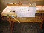 Stół stolarski z drewna (wymiary: 750-520x1960x910 mm) 77156913