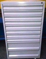 Szafa narzędziowa, 10 szuflad (wymiary: 1250x600x600 mm) 77170814