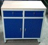 Szafa narzędziowa, 2 szuflady, szafki z półką (wymiary: 1000x1000x600 mm) 77170783